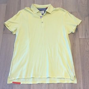 Robert graham polo shirt xxl yellow
